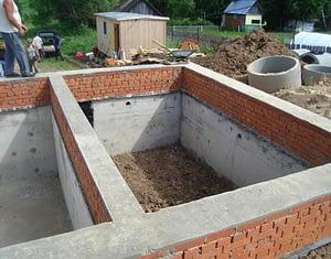 Строительство цоколя дома