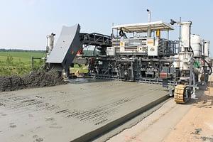 Дорожный цементный бетон – технология строительства и преимущества